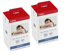 """x2 Canon KP-108IP Ink Cartridge & 108 x 4""""x6"""" Photo Paper Pack for Selphy CP-330"""