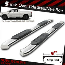 "2007-2018 Toyota Tundra Double Cab 5"" Curved Nerf Bars Side Step Running Boards"