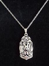 "Bloodhound Dog Necklace Pendant 18"""