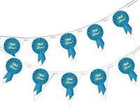 Congratulations Well Done Badge Bunting Banner 15 flags by PARTY DECOR