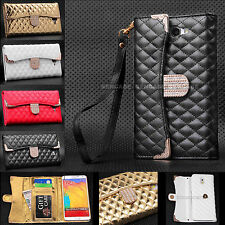 LUXURY HANDBAG PURSE WALLET BLING CASE FOR SAMSUNG GALAXY S6 IPHONE 6, 6 PLUS
