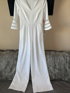 Calvin Klein Women Jumpsuit Size 6 Color Cream Dress Rompers MSRP $139