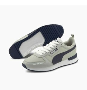 New PUMA shoes sneakers for men style R78 Navy / Gray  size 9.5 us Free Shipping