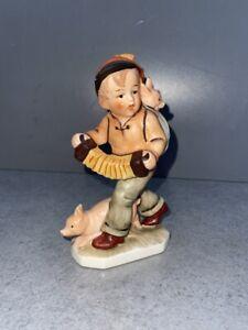 """Friedel Figur  """"Junge mit Glücksschweine""""  handbemalt"""