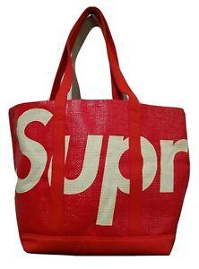 Supreme Raffia Tote Bag Red ss2020 new
