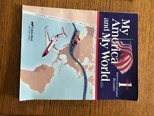 abeka my america my world 1st grade history geography reader