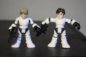 Playskool Star Wars Galactic Heroes Luke Skywalker & Han Solo Stormtroopers