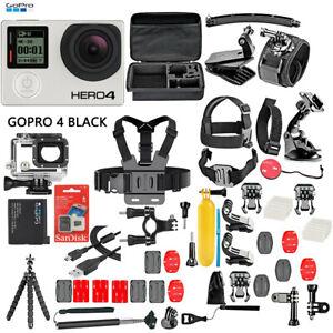 GoPro HERO4 Black Edition Camera Camcorder + 50 Piece Accessory Kit