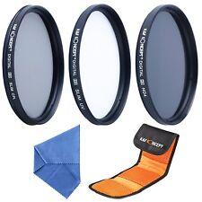 72mm UV CPL ND4 Circular Polarizing Filter Kit Pouc for DSLR Canon Nikon Sony