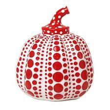 Rare YAYOI KUSAMA LTD Sculpture Pumpkin Paper Weight NEW White x Red dots Vuit