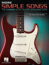 Guitarra Fácil canciones simple más fácil aprender a tocar música Letras Acordes Tab Libro