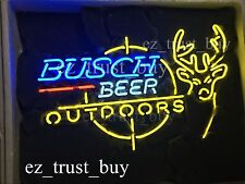 "New Busch Beer Outdoors Deer Neon Light Sign 24""x20"""