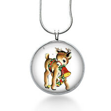 Christmas Deer Necklace, Deer Pendant, animal, gifts for women,jewelry, necklace