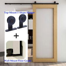 Sliding Barn Door Hardware Kit 4Ft/5Ft/6Ft/6.6Ft/7Ft/8Ft for Single/Double Doors