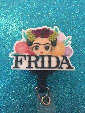 Frida Inspired Retractable Badge Reel Holder
