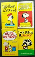 "4 Peanuts ""Snoopy"" Books 1970's Charles M. Schulz - Lot 4 All Snoopy Cover Books"