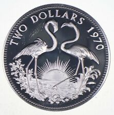 SILVER - WORLD COIN - 1970 Bahama Islands 2 Dollars - World Silver Coin *791