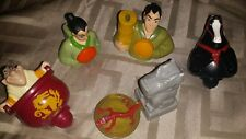 Disney Mulan McDonald's 2 Spinners And 3 Launchers