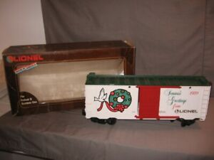Lionel Large Scale G 1989 Christmas Car #8-87006 Original Box VGC