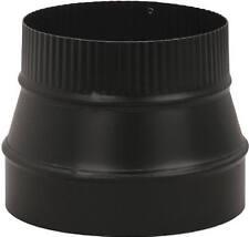 Imperial Mfg Group Usa BM0079 Black Stove Pipe Flue Reducer, 24-Ga., 8 x 6-In.
