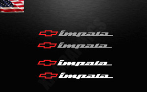 2 Decal Stickers For Chevrolet IMPALA Chevy Bowtie SS Sport