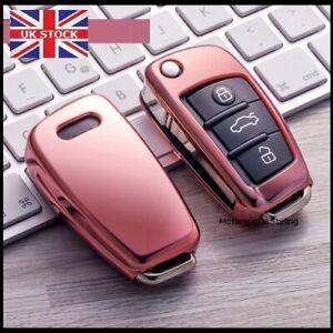 Pink Audi Key Cover Case Fob A1 S1 A3 S3 A4 S4 A5 S5 A6 RS6 TT Q3 Q7 TPU t58pin