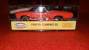 69 Chevy El Camino SS - Orange w/ Black Stripes. Special Edition Slot Car 1969