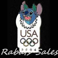 Olympics 2004 Stitch - Disney Pin USA Olympic Logo - New On Card
