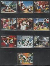 1996 Uganda Disney characters on Orient Express set of 10 MNH