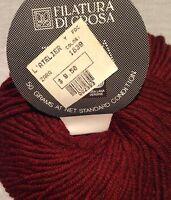1 Skein Filatura Di Crosa ZARA Yarn Color 1839 50g 136yd 100% Merino Wool Italy