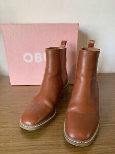 Obus Legacy Boot 38 AU 7 7.5 Camel Tan Brown RRP 329 block heel