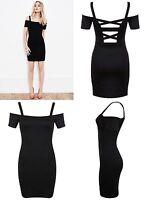 MISS SELFRIDGE BLACK BODYCON DRESS SIZE 4 6 8 10 12 14 16 FREE P&P NEW (F3)