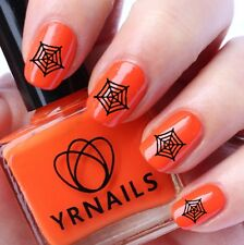 Nail WRAPS Nail Art Water Transfers Decals - Halloween Spider Web - H042