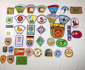 Lot Vintage Travel & Souvenir Patches Landmarks, National Parks, Ski