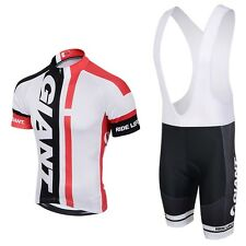 2020 Mens Cycling Team Short Sleeve Bicycle Jersey + Bib Shorts Set - Brand New