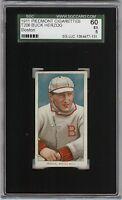 Rare 1909-11 T206 Buck Herzog Piedmont 350-460 Boston SGC 60 / 5 EX