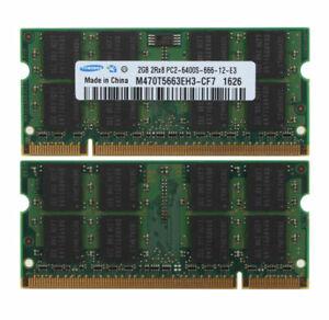 Samsung 4GB 2x 2GB PC2-6400 DDR2-800MHz SODIMM Laptop Memory RAM 2 GB PC6400 4 G