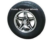 "*2* LBR 205/75R15 LRD Radial Trailer Tires 15"" 5 Lug Aluminum Trailer Wheels acc"