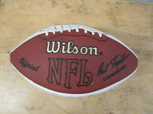 WILSON NFL NEW YORK GIANTS AUTOGRAPHED FOOTBALL HARRY CARSON
