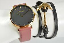 I AM KAMU Uhr Enigma Altrosa Gold + Anker Wickelarmband Neu; K66 298