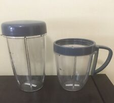 4 pc Lot NUTRiBULLET 900 Series Tall Cup w/ Handled Lip Ring & Cup Cup with Lid