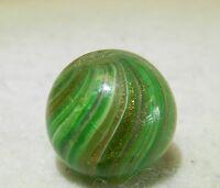 #4746m Vintage German Handmade Onionskin Lutz Marble .63 Inches