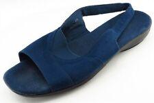 Grasshopper Size 9.5 W Blue Slingback Fabric Women Sandal Shoes