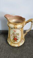 More details for vintage antique grimwade stoke-on-trent large pitcher jug floral 7.5
