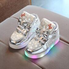Toddler Kids Baby Girl Boy Mesh LED Light Luminous Sport Shoes Children Sneakers