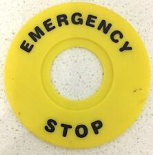 Emergency Stop Ring Label for 22mm Emergency Stop Push button Switch