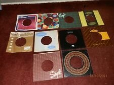 10 x 1960's, 70's Company Sleeves -Vintage Original 45rpm 7inch Record Covers 1