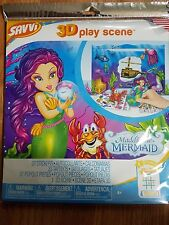 SAVVI  Maddie The Mermaid 3D Play Scene Tattoos Stickers Popout Pieces