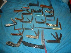 VINTAGE TO MODERN POCKET KNIFE LOT OF (23) CAMILLUS ,IMPERIAL ,BARLOW, ETC