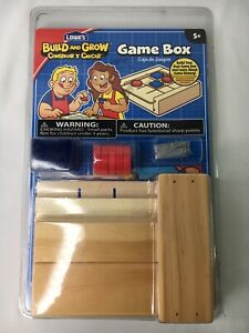 Lowe's Build And Grow Game Box, Wood Craft Kit For Kids, Tic Tac Toe Box, New